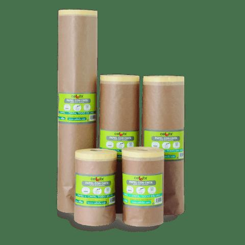 papel protección paredes con cinta adhesiva - Pinturas Revecril